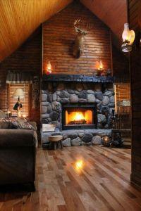 50 Log Cabin Interior Design Ideas | Cabin | Pinterest