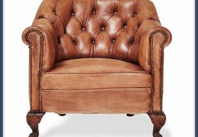 Modern Tufted Leather Chair