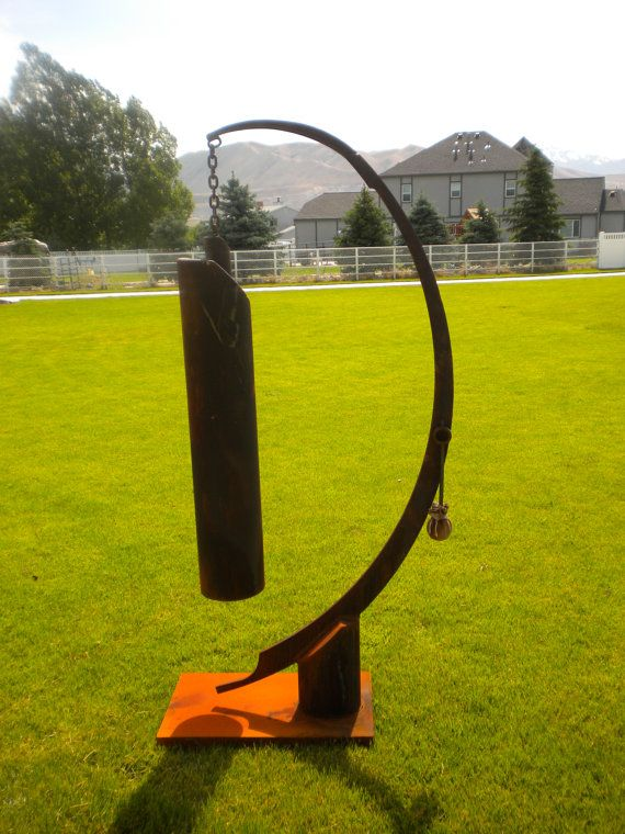 Attractive garden gong that produces a wonderful by Backwardview, $475.00
