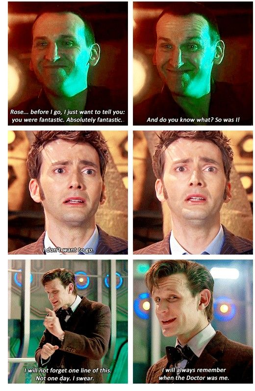 "Last lines. | Did anyone else notice Matt looking directly at the camera as he said, ""I will always remember when the Doctor was me"" ....? Yeah. Just thought I'd accidentally make everything hurt even worse..... sorry."