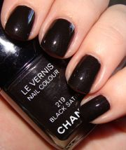 chanel le vernis black satin nail