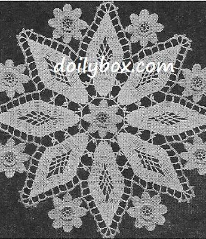 Free Vintage Crochet Diamond Doily Pattern