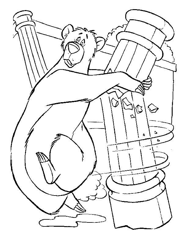 Jungle Book Baloo Pages Coloring Pages