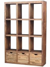 wood open bookcase room divider loft decor