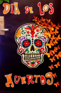 Day of the dead door decoration | Holidays | Pinterest