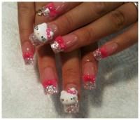 3D hello kitty nail art   Hello Kitty   Pinterest