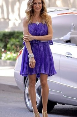 Beautiful color carried bradshaw dress