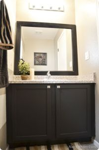 Painting bathroom cabinets | Beverly Project | Pinterest