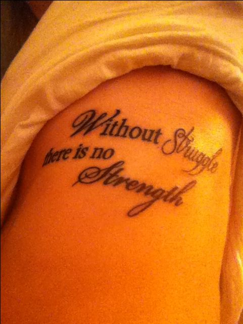 Tattoos About Overcoming Struggles