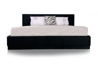 Aria Synthetic Leather Tufted King Size Platform Bed