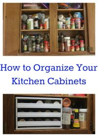 How to Organize Kitchen Cabinets | Organized Spaces ...