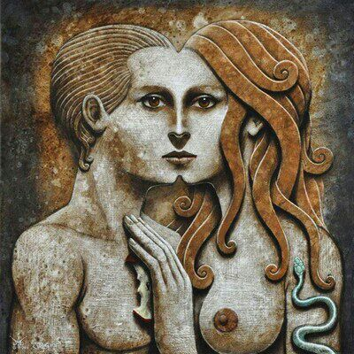 The Anima / Animus is the female and male aspects of yourself. Everyone possess both feminine and masculine qualities. In dreams, the anima appears as a highly feminized figure, while the animus appears as a hyper masculine form.