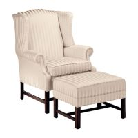 Ethan Allen Milford wing chair. | Living Room of the ...