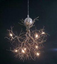 Tree branch light fixture | DIY Crafts | Pinterest