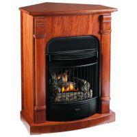 Corner natural gas fireplace | Home | Pinterest