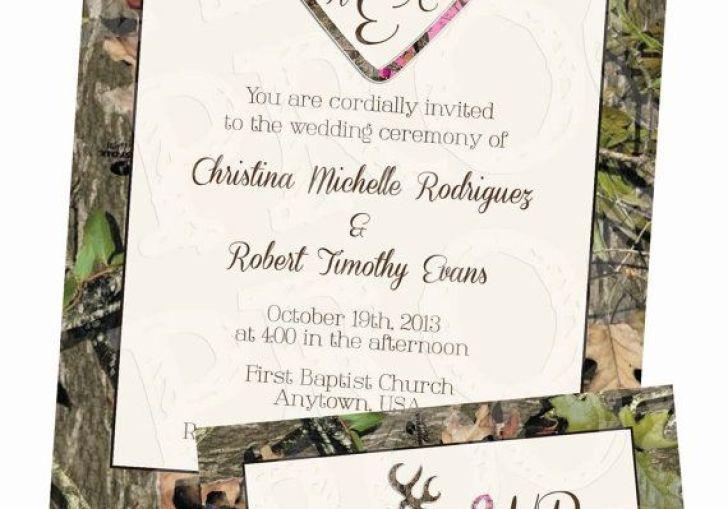 Camo Wedding Invitations