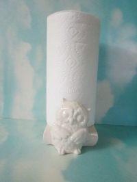 Ceramic Owl Paper Towel Holder Handmade Hand Painted-Ready ...
