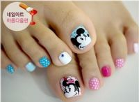 Mickey and Minnie Mouse Toe Nail Art | Toe Nail Art ...