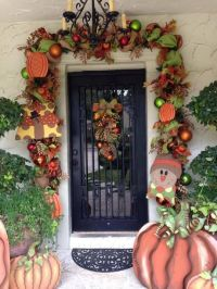 Fall door garland | Thanksgiving Decor | Pinterest