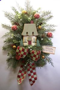 Christmas Wreath Swag Victorian Holiday Door Walll Decor