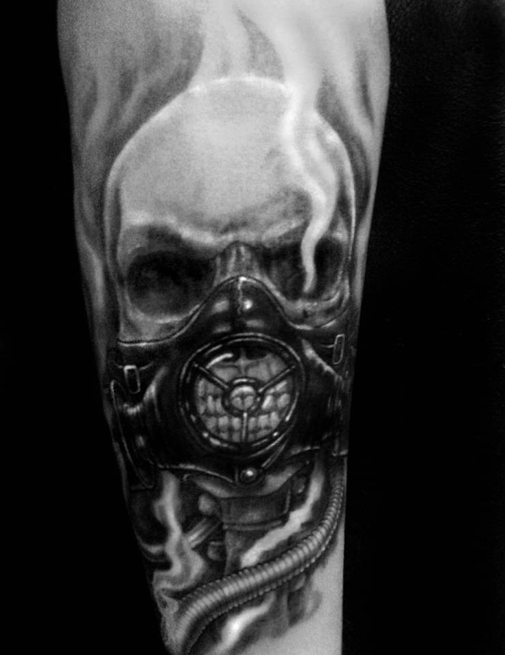 Skull Gas Mask Tattoo Meaning