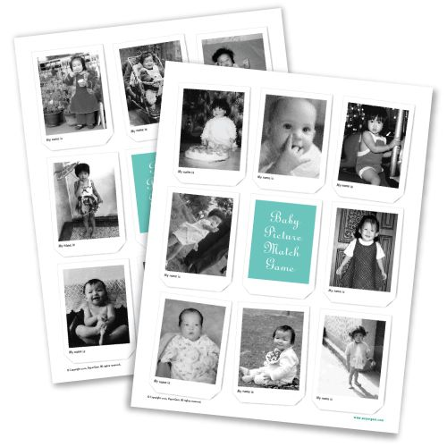 Baby Picture Match Game - what great way for everyone to get to know each other.