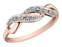 Infinity Diamond Promise Ring in 10K Rose Gold, Size 4.5 ...