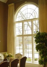Draperies, Arched Window  | Window Treatments | Pinterest
