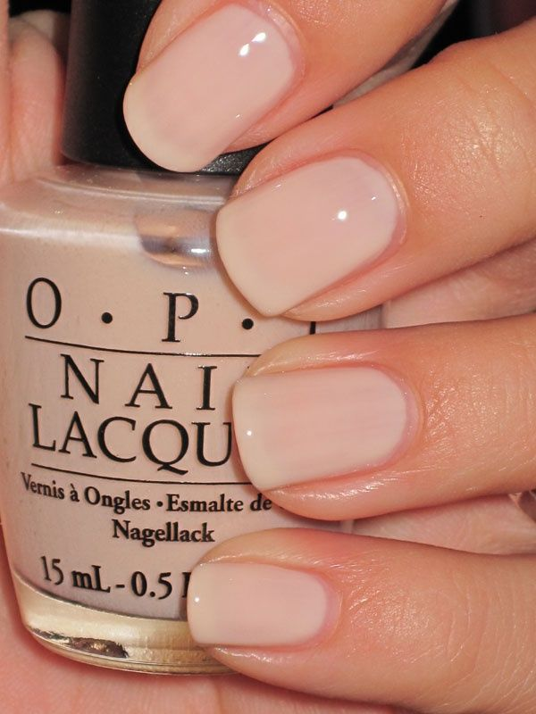 OPI Mimosas for Mr Mrs. Perfect nude nail color We love nude at www.thetrustedbeautyguide.com