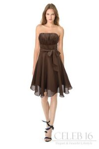 Satin brown bridesmaid's dress. | Amanda! | Pinterest