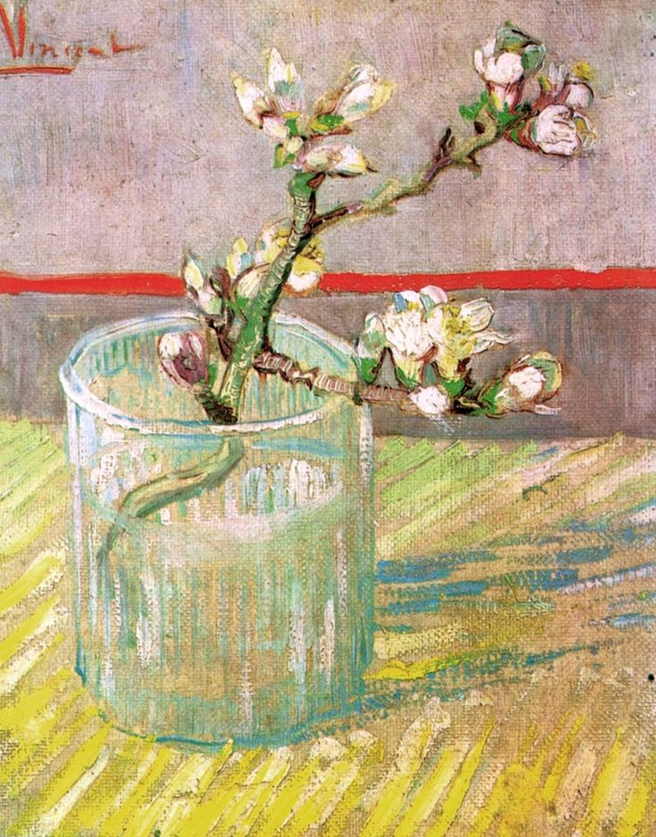 Vincent van Gogh, Blossoming Almond Branch in a Glass,1888
