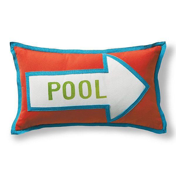 Pool Arrow Melon Outdoor Lumbar Pillow  Pool  Pinterest