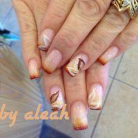 Fall nail designs | Floral nail art | Pinterest