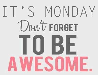 Het is weer maandag!