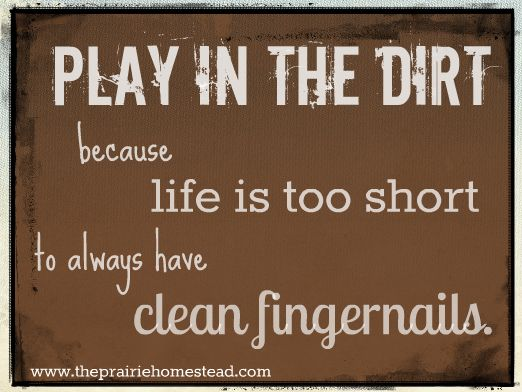 Learn how to play in the dirt at www.theprairiehomestead.com!