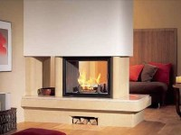 room divider gas fireplace | inside-the-pie | Pinterest