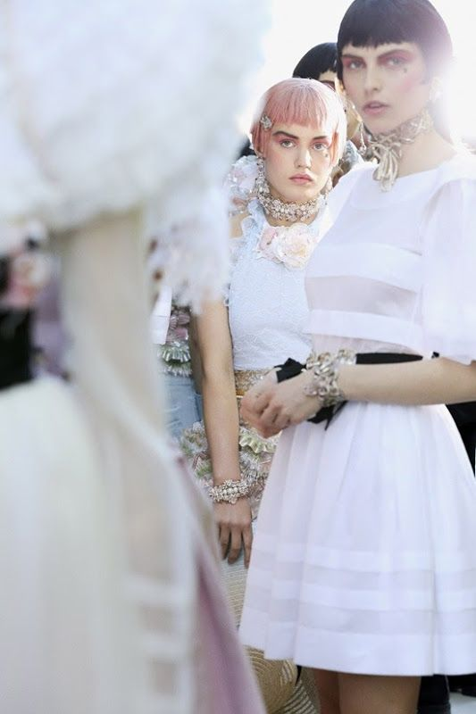 Chanel backstage, Karlina