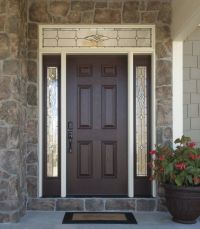 Versatile, durable fiberglass front doors with decorative ...