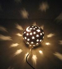 Ceramic Nursery Night Light Electric Lamp Lantern Luminary ...