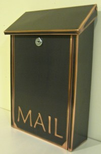 Wall Mount Black Patina Copper Mailbox | Products I Love ...