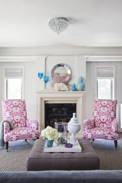 bold patterned chairs