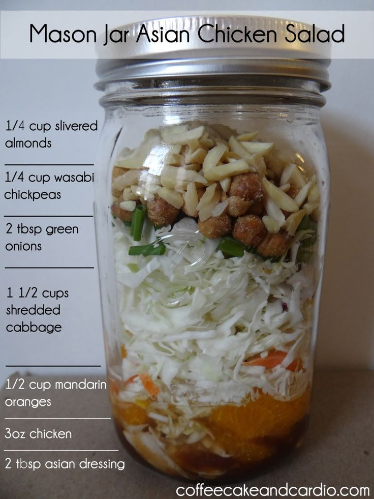 Mason Jar Asian Chicken Salad