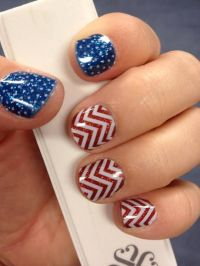 USA Nail design, American Flag Nail Art | nailing it ...