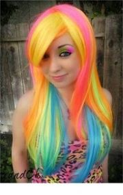 beautiful rainbow hair lisa frank