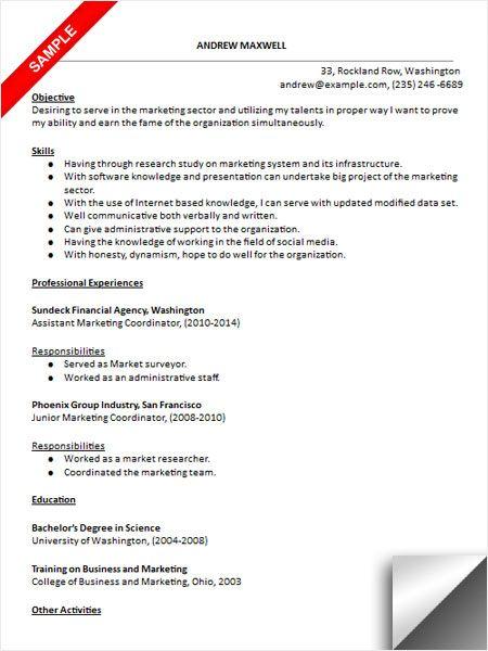 Marketing Coordinator Resume  playbestonlinegames