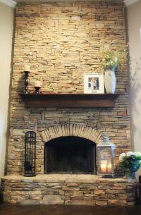 Beautiful flag-stone fireplace | Dream Home | Pinterest