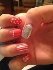 coral nails nail design
