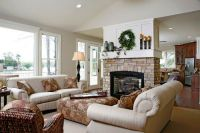 Love fireplace in center of room. | Living/Family Rooms ...