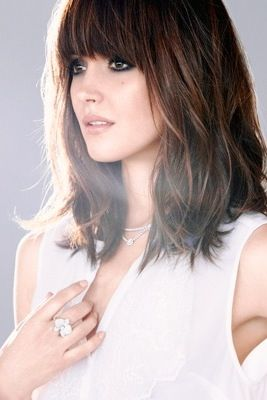 Rose Byrne - mid length hair with bangs...undecided if I can pull off bangs again...