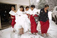 Bridesmaids winter wedding | Winter Weddings | Pinterest